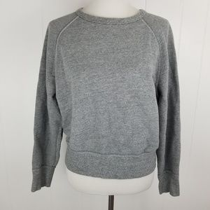 Rag & Bone Gray Pullover Crewneck Sweatshirt Top